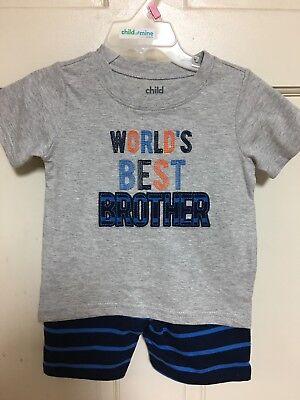 Boys Clothing Toddler Shorts Set Worlds Best