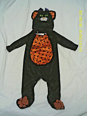 NWT Baby Girl Black Cat Costume 6m 12m - Cute Baby Cat Kostüm