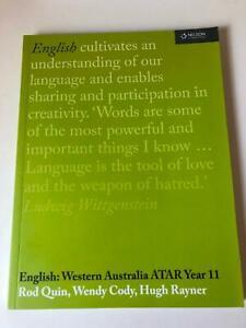 English: Western Australian ATAR Year 11 Textbook