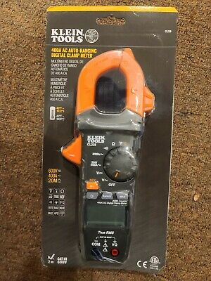Klein Tools Digital Clamp Meter Ac Auto-ranging 400 Amp With Temp Cl220