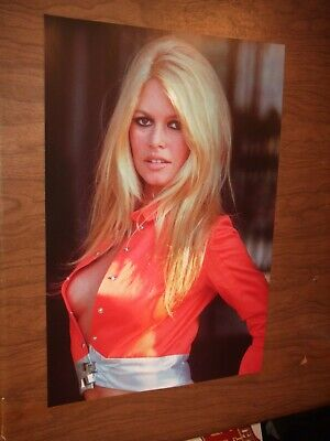 BRIDGET BARDOT Poster sexy hot pin-up babe busty 60's man cave garage hippie
