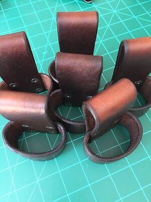 One(1) Handmade Leather Tomahawk, Hammer, Hatchet Belt Carry Loop Holster  BROWN