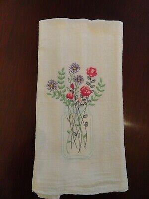 VINTAGE SUMMER FLOWERS IN A MASON JAR HEIRLOOM DESIGN  FLOUR SACK TOWEL RETRO ](Flowers In Mason Jars)