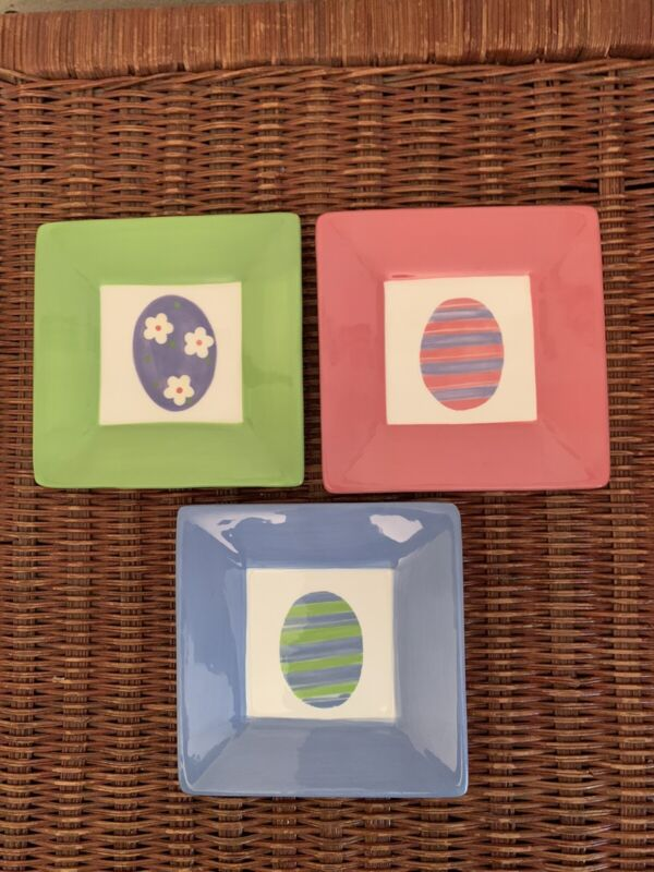 TAG Easter Egg Appetizer Plates (Set of 3)