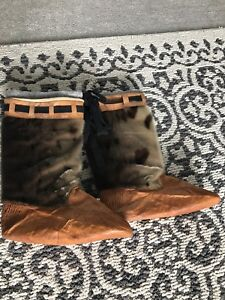Seal skin with leather moccasins size women's size 8-9
