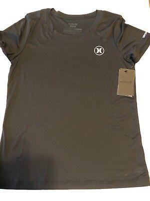 Hurley Rash Guard - New Hurley Womens M L XL Dri-Fit Icon Surf T-Shirt Rash Guard UPF 50+ Black