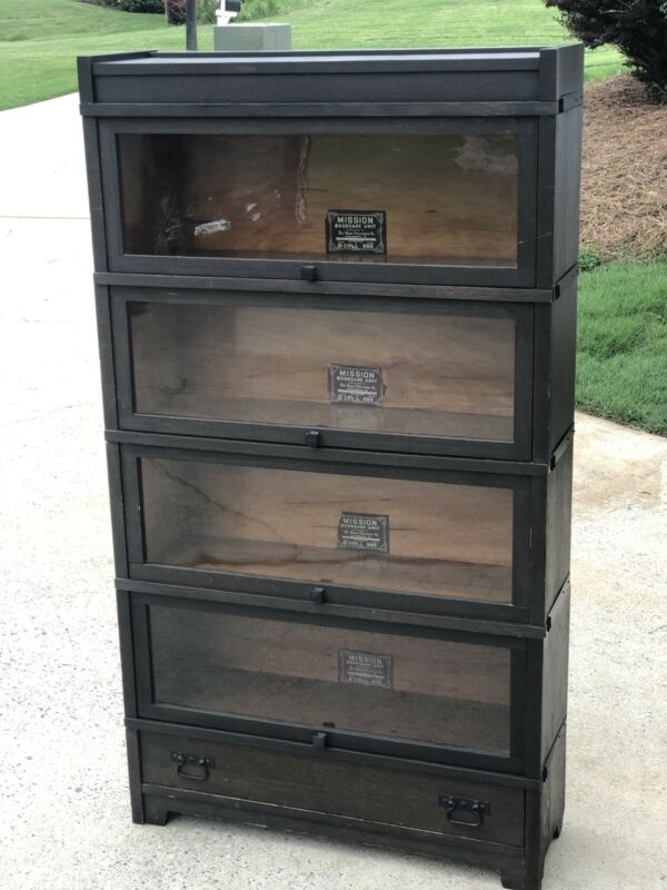 Oak Globe Wernicke True Mission Stacking Bookcase