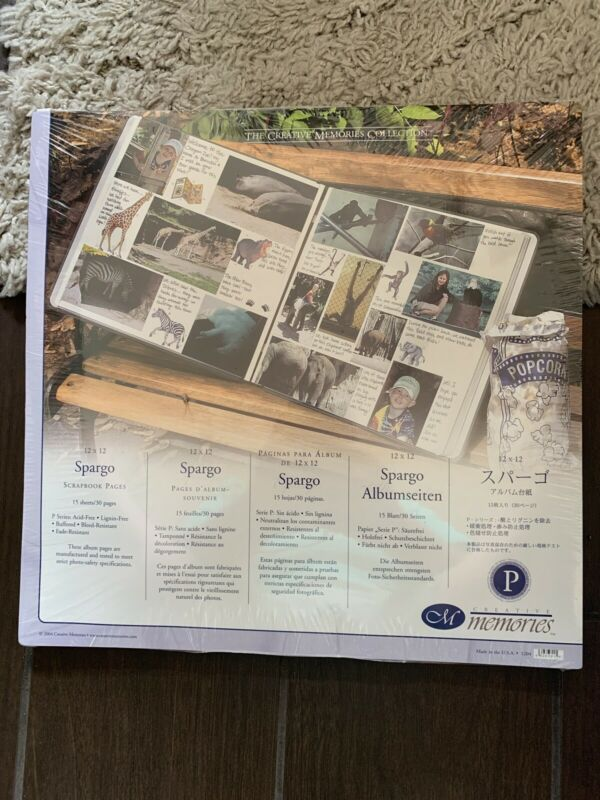 Creative Memories Spargo Scrapbook Page Refills 12x12/ 15 Sheets/30 Pages New