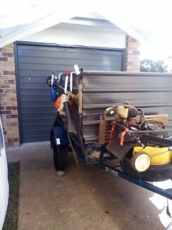 Landscaping and rubbish removal