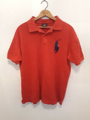 Ralph lauren polo Big Large Pony Red With Blue Pony XL pre-owned best offer (Best Ralph Lauren Polo Shirts)