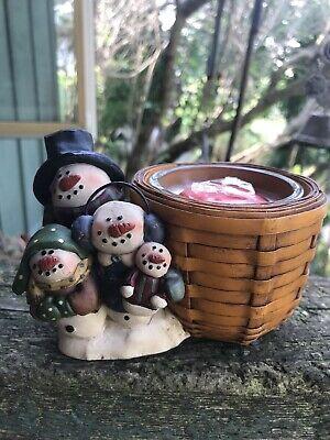 Blossom Bucket Snowman Votive Candle Holder Skogland W Yankee Candle