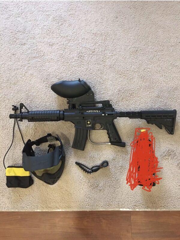 Tippmann US Army Alpha Black Elite Tactical Paintball Gun Package Kit