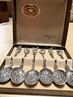 Co Medallion Pattern Silver Plate Teaspoon Vintage The W.B