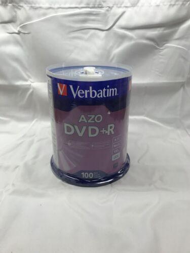 Verbatim AZO DVD+R 4.7GB, Blank Discs 100 Pack