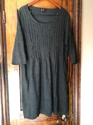 R&K Originals Gray Sweater Dress, Gray, Woman's Size 2XL, Pre-Owned VGC