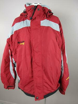 Columbia Size L Mens Red Full Zip Hooded Insulated Snowboard Ski Jacket 680
