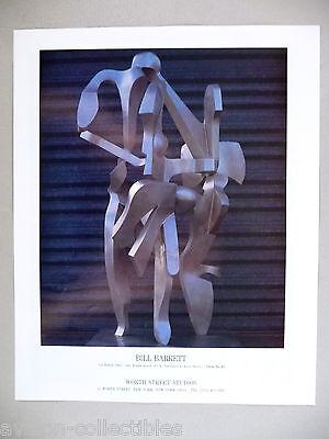 Bill Barrett Art Gallery Exhibit Print Ad   1990    La Ronde Two