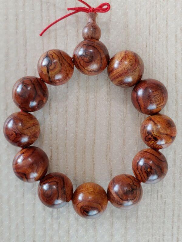黄花梨佛珠手串Huanghuali wooden beads bracelet Buddhism artwork culture jewelry decor
