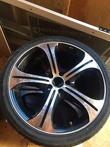 """Two ( 2 ) 17"""" rims and low profile tires"""