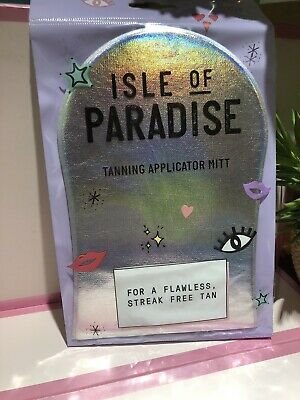 ISLE of PARADISE Washable Self Tan Applicator Mitt ~ STREAK FREE ~ NEW SEALED!