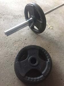 Weights Olympic bar