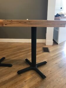 Wood and metal bistro tables (13 in total)