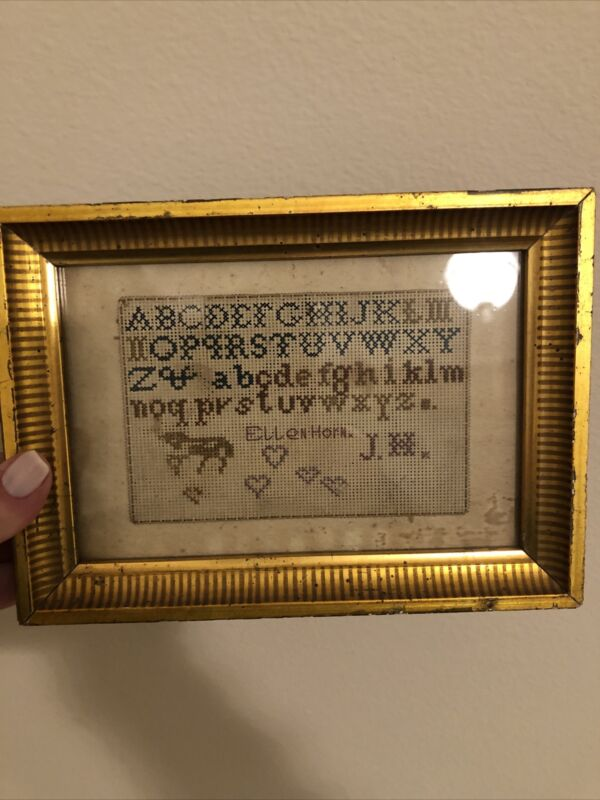 Antiques beautiful ABC sampler