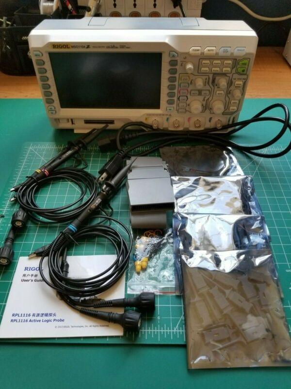 Rigol MSO1104Z KIT - 100 MHz Mixed Signal Oscilloscope with Logic Probe (4 Analo