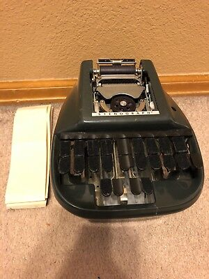 Vintage Steno-lectric Stenograph Machine Stenographer Court Reporter - May Work