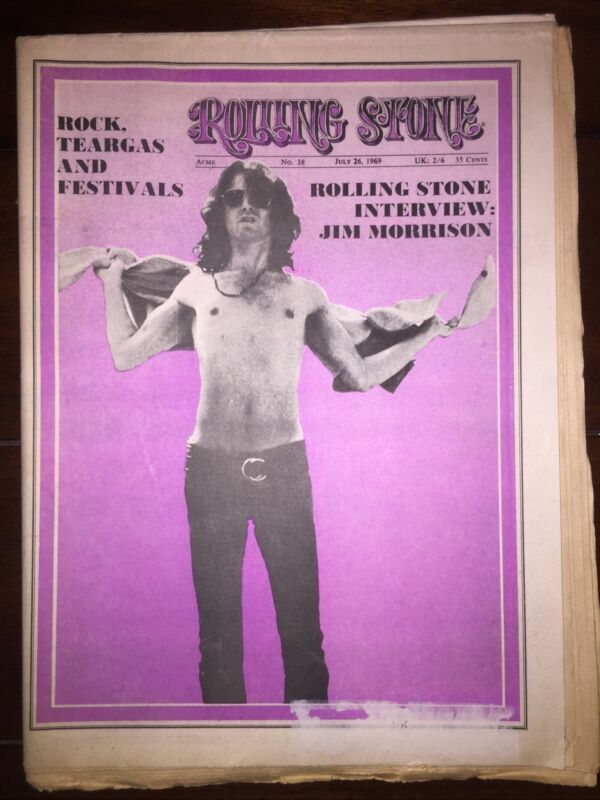 Rolling Stone Magazine, Issue 38, July 26, 1969 Jim Morrison Buddy Guy