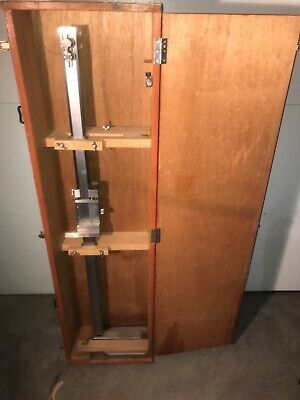 40 Inch Machinist Height Gage In Wood Case Mitutoyo Iz 548 40 Vernier Guage