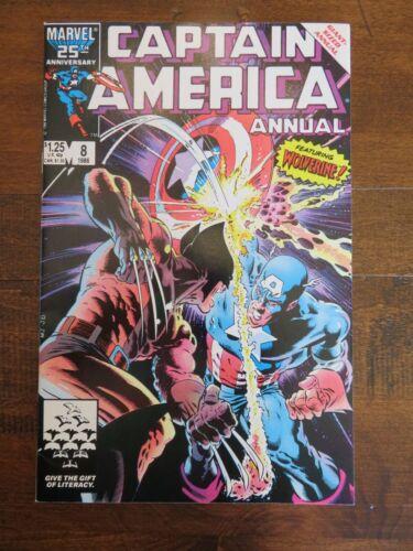 CAPTAIN AMERICA Annual #8 vs Wolverine Avenger X-Men Logan Marvel Comic NM- 1986