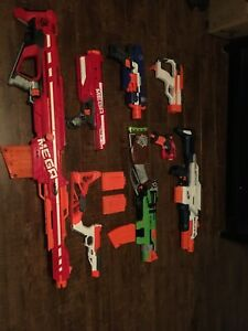 7 nerf guns all in great condition and barely use