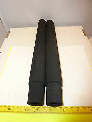 "(2) BLACK 11""EVA FOAM HANDLES GRIPS SET FOR ROD BUILDERS OR REPAIRS"