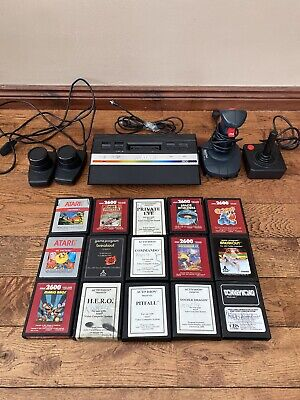 Atari 2600 Console Bundle Untested Mario Bros, Ms Pac-Man, DonkeyKong etc