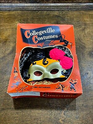 "Vintage Collegeville CHILDS HALLOWEEN COSTUME w Orig BOX "" SPANISH GIRL "" L"