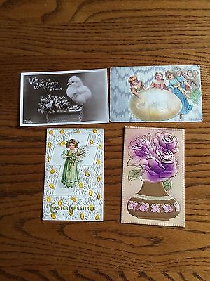 4 Vintage Easter Cards, 1 by The Rotogaph Co. N. Y. Copyright 1908