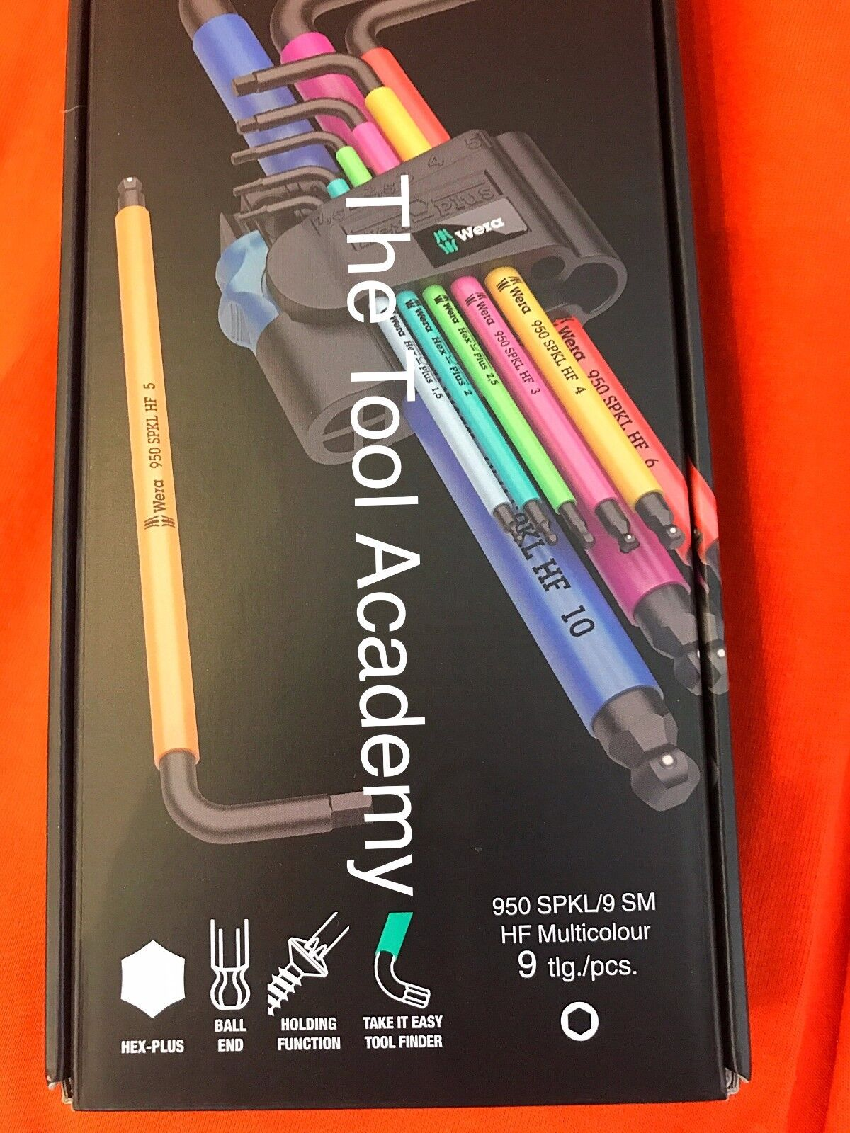 Wera Tools Brightly Colour With Socket Holding Function Ball Allen Key Hex Set
