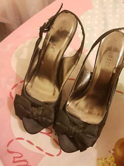 Black Heels with bow tie