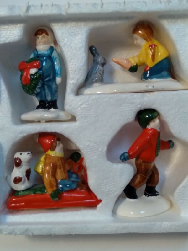 Dept 56 Snow Village Children Playing Figurines