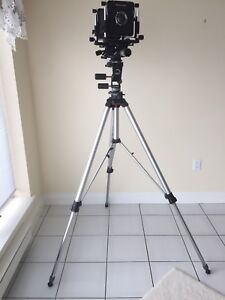 Omega 4x5 camera with lens and tripod