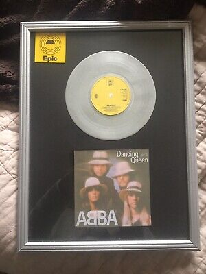 "ABBA DANCING QUEEN platinum 7"" Vinyl Single"