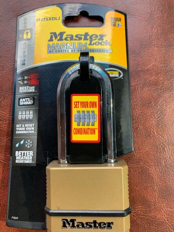 Master Lock Brass Standard Quality Indoor Outdoor Shackle Combination Padlock