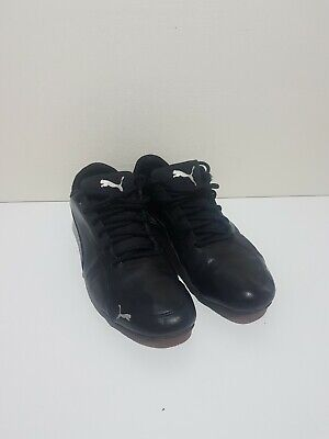 Mens Black Leather Puma Drift Cat 5 Running Trainers Size 9
