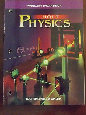 Problem Workbook   Holt Physics  Holt  Rinehart   Winston    Never Used