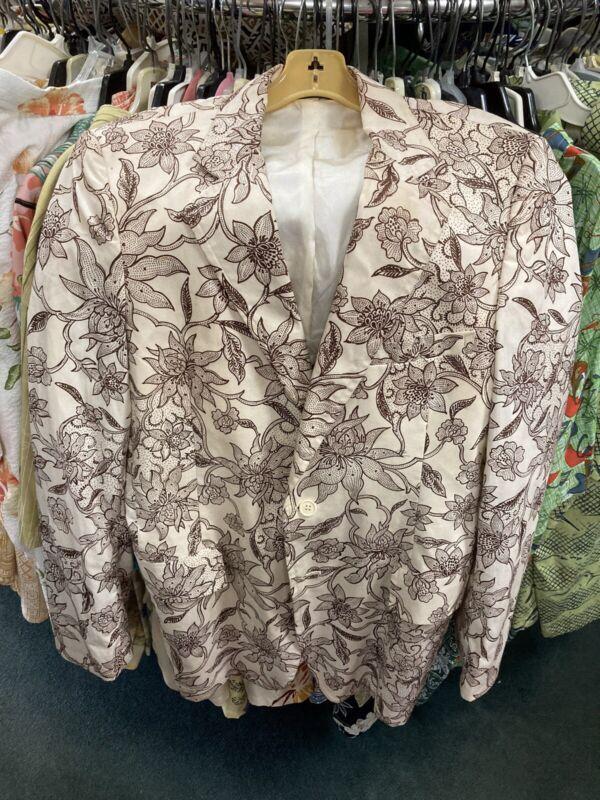 vtg TIKI Hawaiian TORI RICHARD sandwich isles jacket Rockabilly 42L