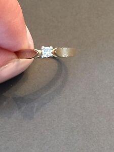 Size 3/4 Gold diamond ring - $50 OBO