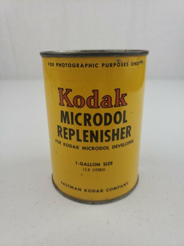 NOS Vintage KODAK Microdol Replenisher Powder For Developer Makes 1 Gallon Size