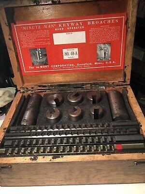 Dumont Minute Man No.40a Keyway Broach Set Wwooden Box 4 Broaches 8 Bushings