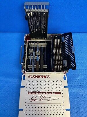Synthes 4.0mm Titanium Cannulated Instrument Set Orthopedic